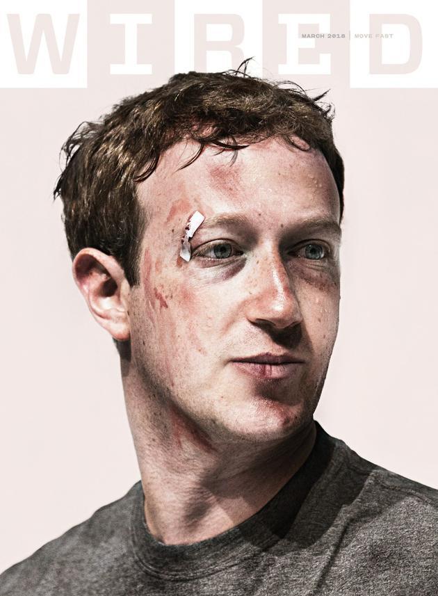 《连线》杂志当期封面:受伤的扎克伯格