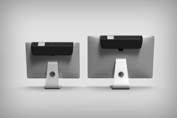 设计巧妙的iMac置物盒 挤出空间放置桌面杂物