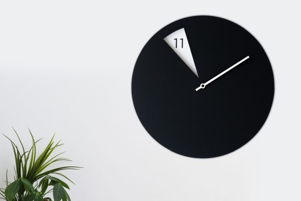 手工制作黑白挂钟 用简单纯色演绎极简式优雅
