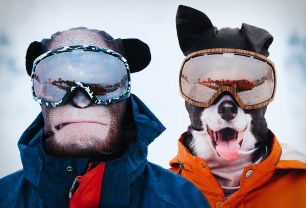 让你变禽兽的超清晰滑雪面罩 出门还请注意安全