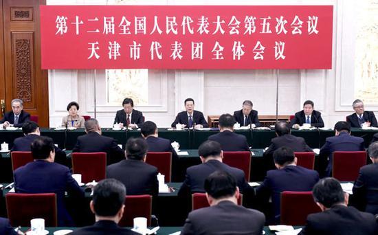 天津代表团审议政府工作报告