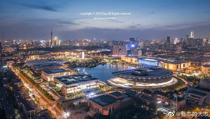 换个高度看天津夜色美景