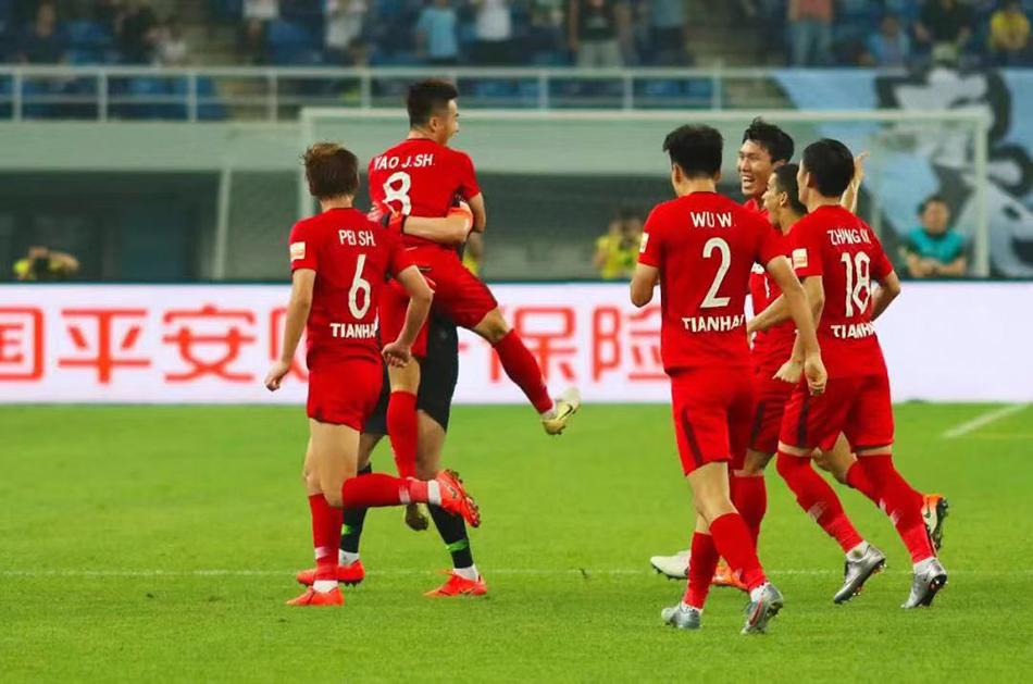 中超-姚均晟世界波 天海1-0胜泰达笑傲天津德比