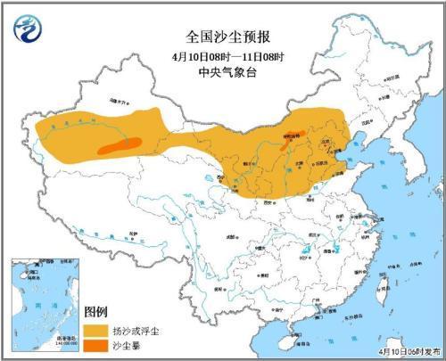 全国沙尘预报图片来源:中央气象台