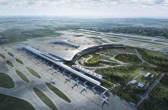 机场全景效果图