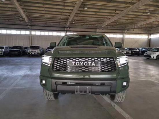 20款丰田坦途TRDPro版军绿色 V8发动机