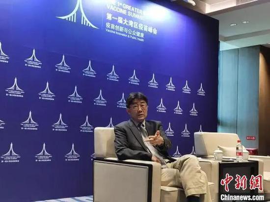 ▲中国科学院院士、中国疾控中心主任高福12日在深圳接受专访
