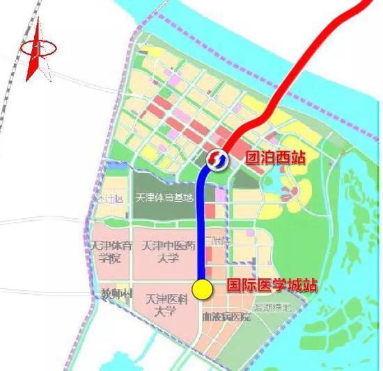 ▲本工程线路平面位置示意图(本次工程范围为蓝线部分)
