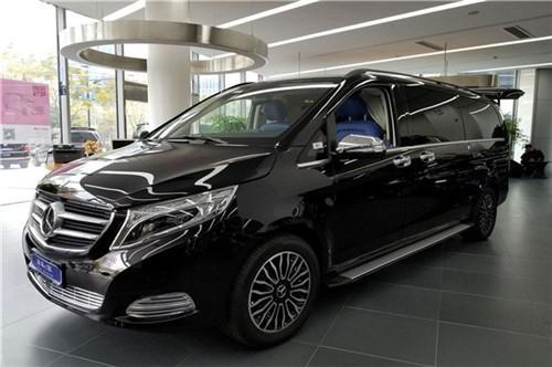 奔驰V260改装平顶七座商务车天津港报价
