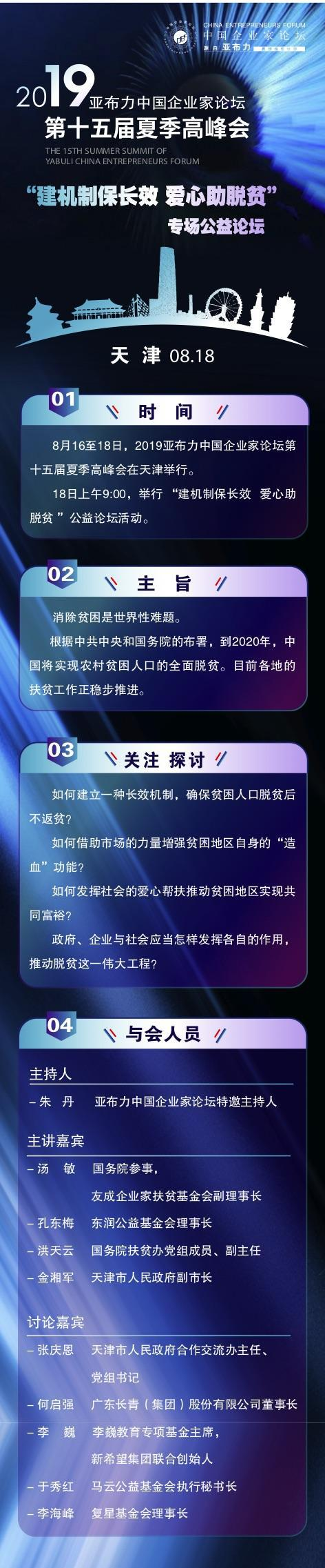 2019亚布力中国企业家论坛 大咖云集天津 纵论脱贫攻坚