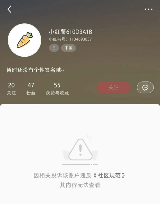 """lv中古盲盒""账号已被封图片来源:小红书"