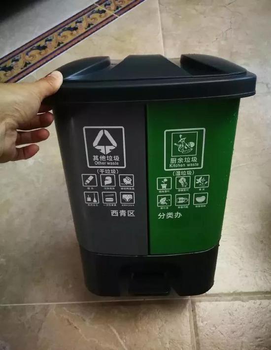 天津这垃圾分类桶火了 网友:这分类不难 和智商匹配