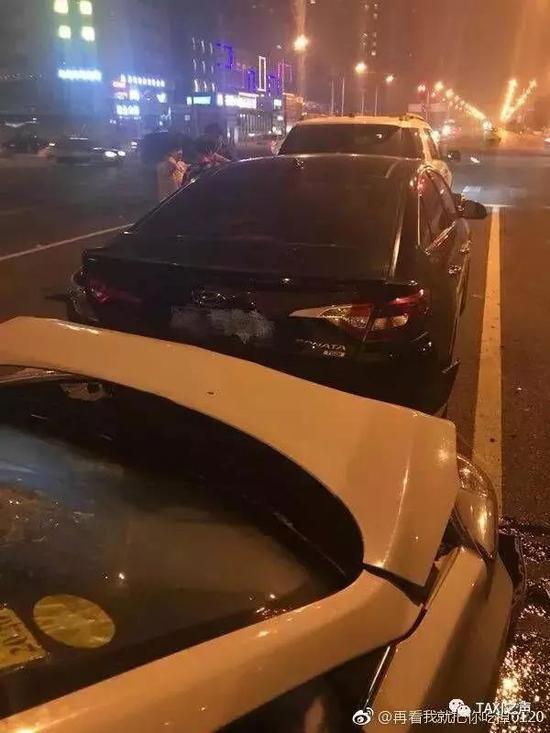 发生事故的现场。