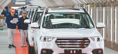 天津开发区西区长城汽车H6生产线。贾成龙摄