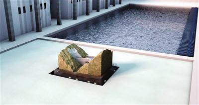 大型水坝-库水-岩体大型振动台试验效果图