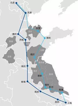 京沪高铁二通道示意图