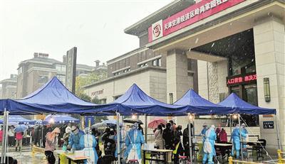 天津港保税区岭尚家园社区筛查点位