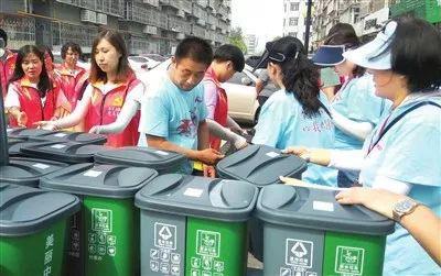 赠送分类垃圾桶 入户宣传送到家 西青区启动生活垃圾分类集中宣传