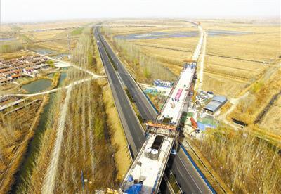 京滨铁路单跨最长连续梁合龙