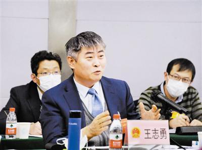 市人大代表王志勇在会上发言。