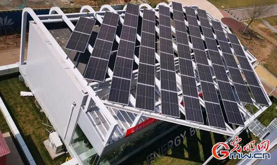 零耗能小屋屋顶的光伏发电设备