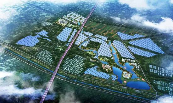 ▲中节能滨海太平镇300兆瓦光伏复合发电项目