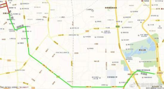 二、由市区前往杨柳青镇区可选择4条主线