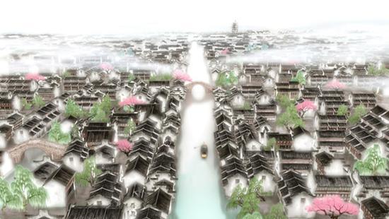 坐船来乌镇,远远望见白莲塔的雄伟身姿,就知道乌镇到了。