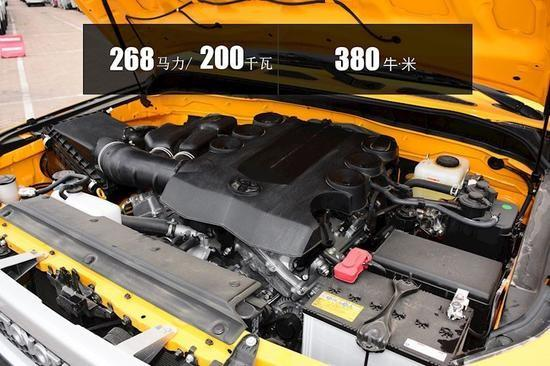 ▲4.0L V6发动机型号1GR-GE,可靠稳定越野穿行的保障