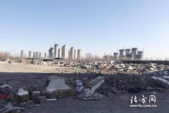 2月初,欣源钢材市场违章建筑群已全部拆除完毕