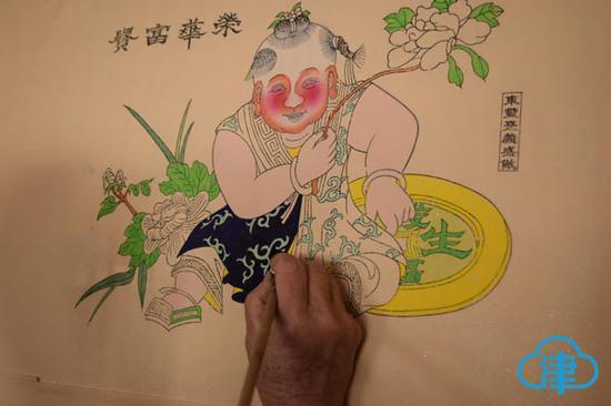 东丰台年画制作过程展示