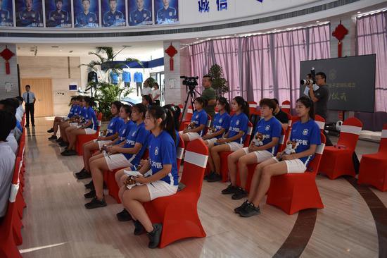 天津泰达北中医女子足球队正式成立