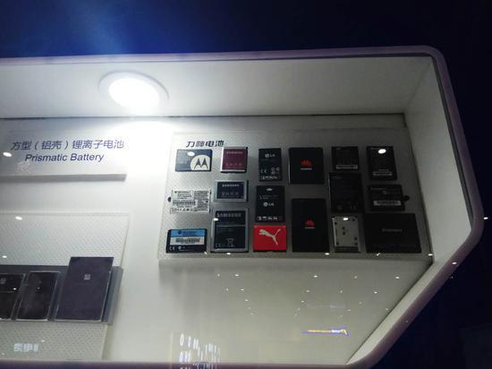 力神生产的部分电池展示