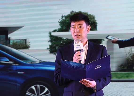 吉利汽车华北营销事业部京津大区大区经理王太鹏先生致开场词