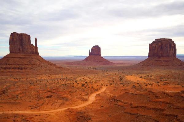 纳瓦霍族保留地中的纪念碑谷
