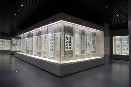 博物馆书画展厅图片