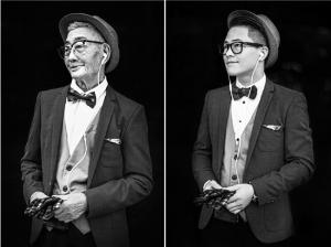 """网上热传的""""孙子给85岁爷爷拍照片"""""""