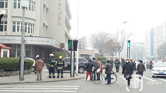 天津医大口腔医院发现可疑物品 警犬出动排查
