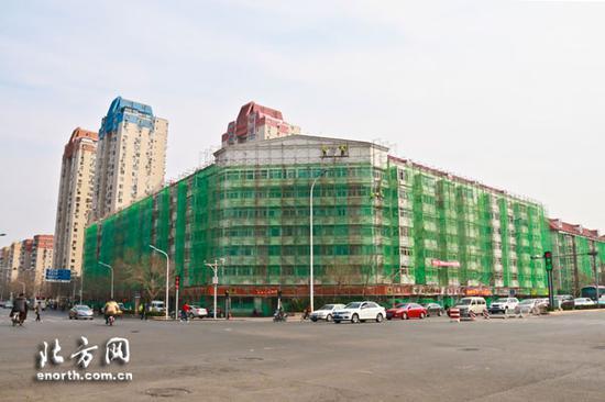沿街建筑综合整修全面开工