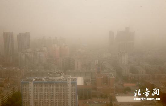 天津迎今年首次大范围沙尘天气