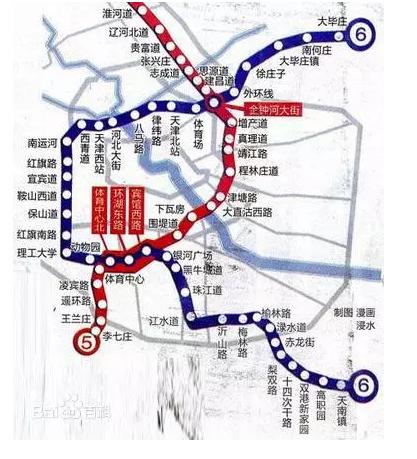 天津地铁10号线施工 珠江道局部路段断交图片