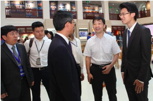 刘正荣副社长会见ofo小黄车联合创始人于信
