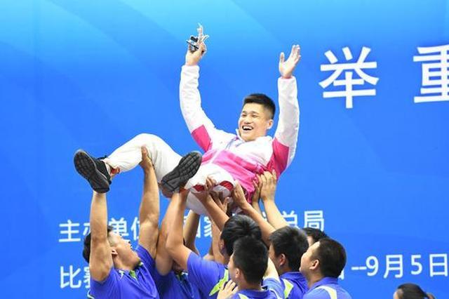 全运会举重77公斤级结束 吕小军津门成功卫冕