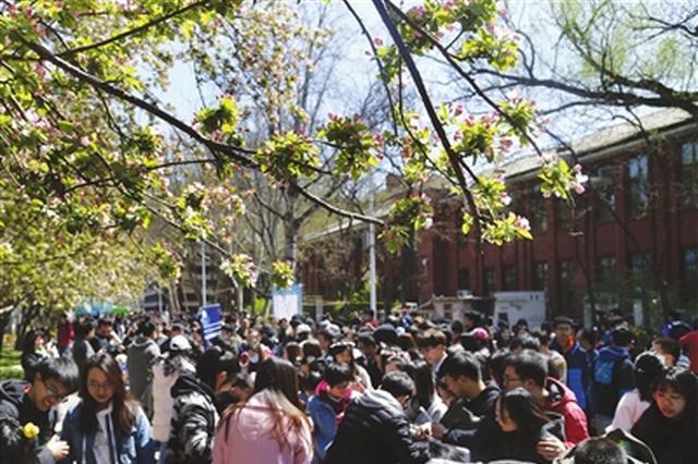 天大·海棠季校园开放日 3万余游人饱览春光