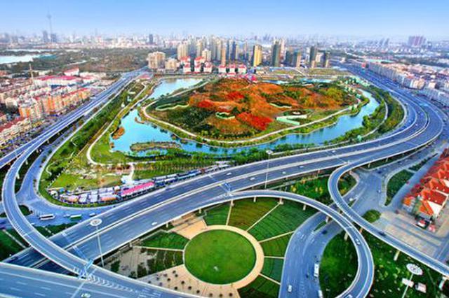 中心桥立交通车 为津塘公路早晚高峰减压
