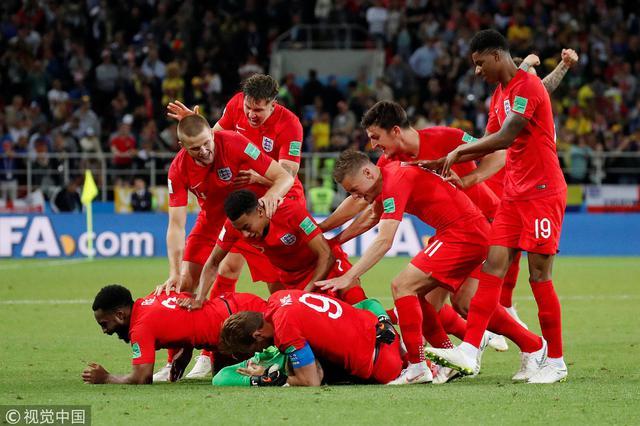 世界杯-终破点球魔咒 英格兰5-4哥伦比亚进八强