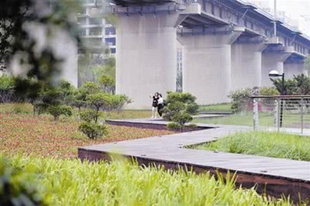 天津市首座栈道公园正式亮相西青区中北镇