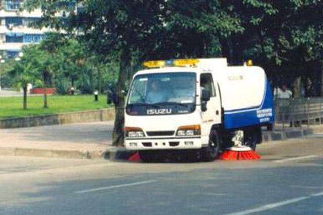 天津:可机扫水洗道路机扫率水洗率实现100%