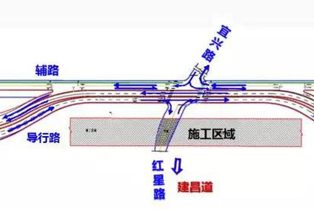 提醒:快速路这段道路要修立交桥 2020年竣工