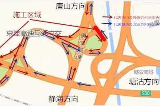 京津高速两互通立交匝道桥断交施工如何绕行